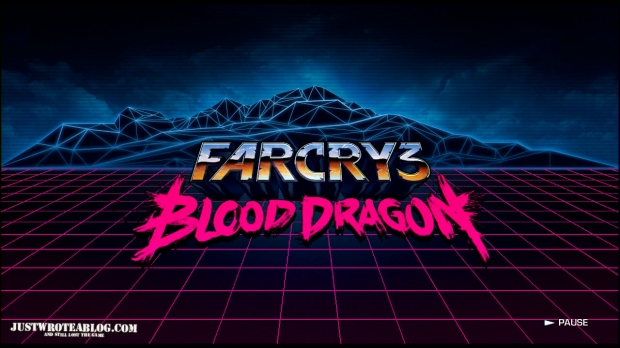 Even the title screen is so 80's themed