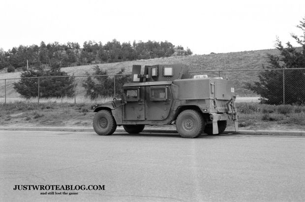 Humvee at Pine Bluffs, Wyoming