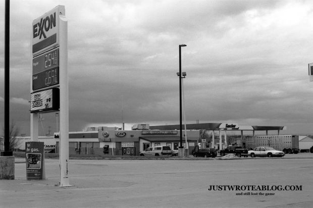 Service Station at Pine Bluffs WY