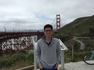 Photo of Alvin at the Golden Gate Bridge
