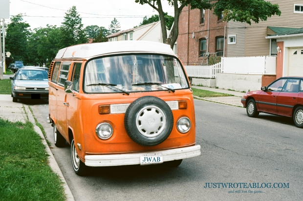 I enjoy finding old vehicles, such as this VW Type 2 (a North American