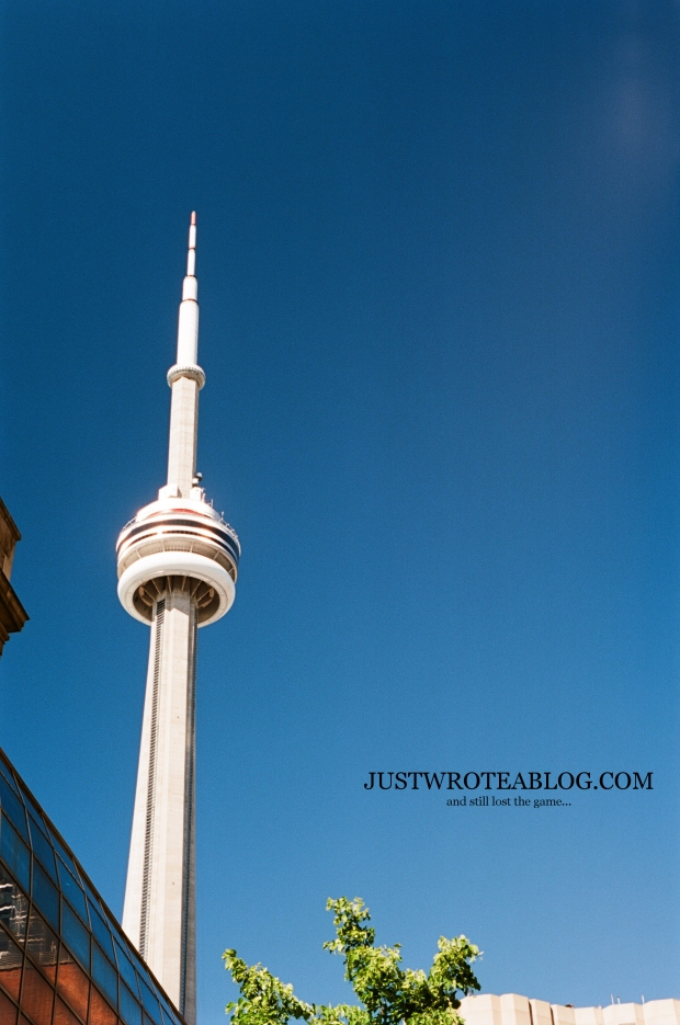 CN Tower, from York and Station Streets.