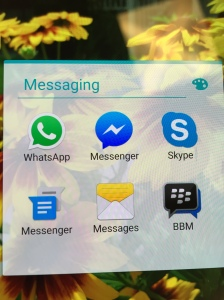 Various platform agnostic messenger apps available on Android, include WhatsApp, Facebook Messenger, Skype and Blackberry BBM.