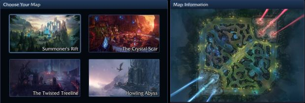 Different Map Selections