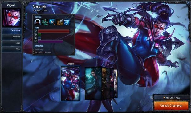 Vayne, an very popular ADC.