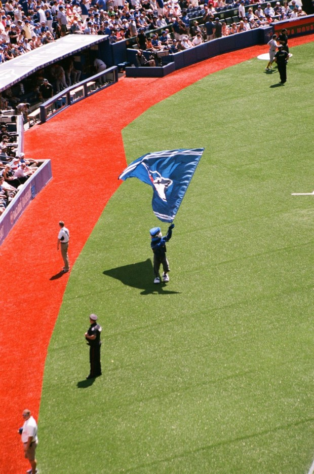 What is a Jays game without our mascot, BJ?