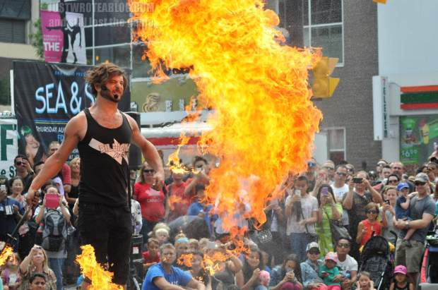 Billions Cobra, wowing the crowd with his fire whip.