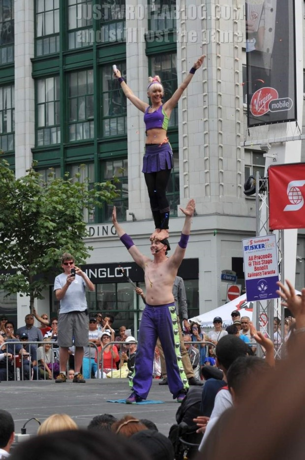 Zap Circus travelled all the way from Australia to perform on Centre Stage at Yonge-Dundas Square!