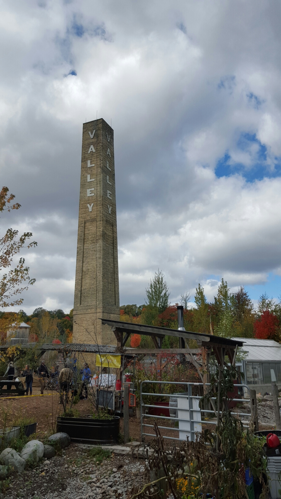 Chimney at the Don Valley Brickworks, Toronto, Canada.