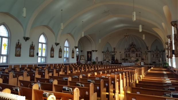 Interior of St. Mary of Czetochowa Church, Wilno, ON