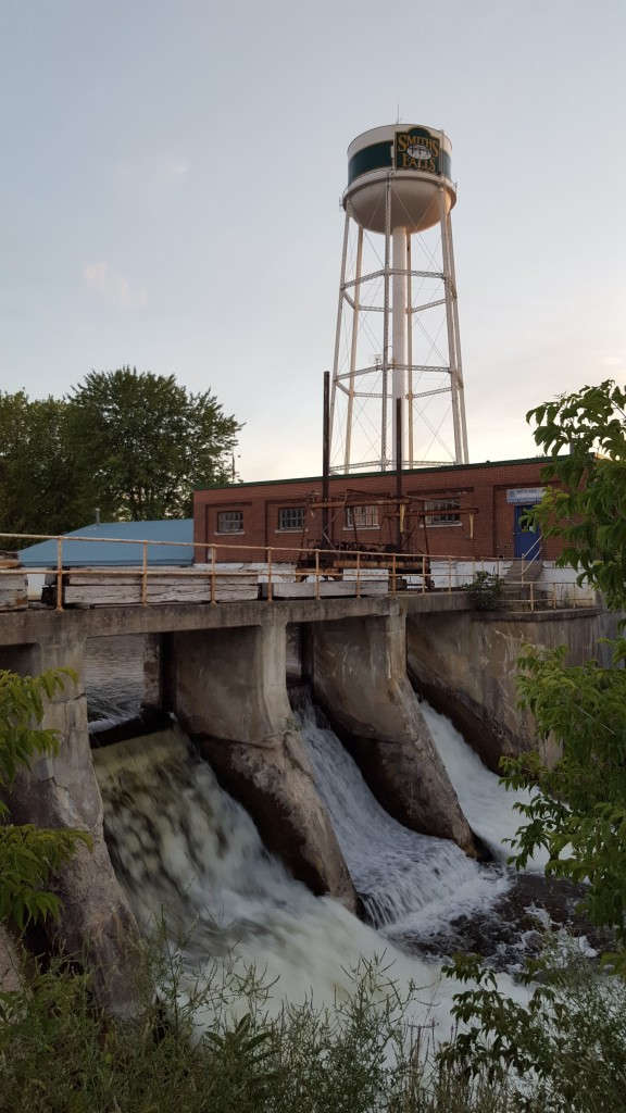 The Water Tower overlooking the Dam at Smiths Falls, ON