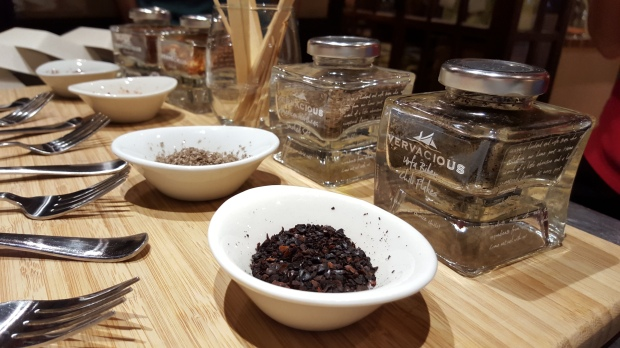 Samples of spices from Vervacious, Portland, ME