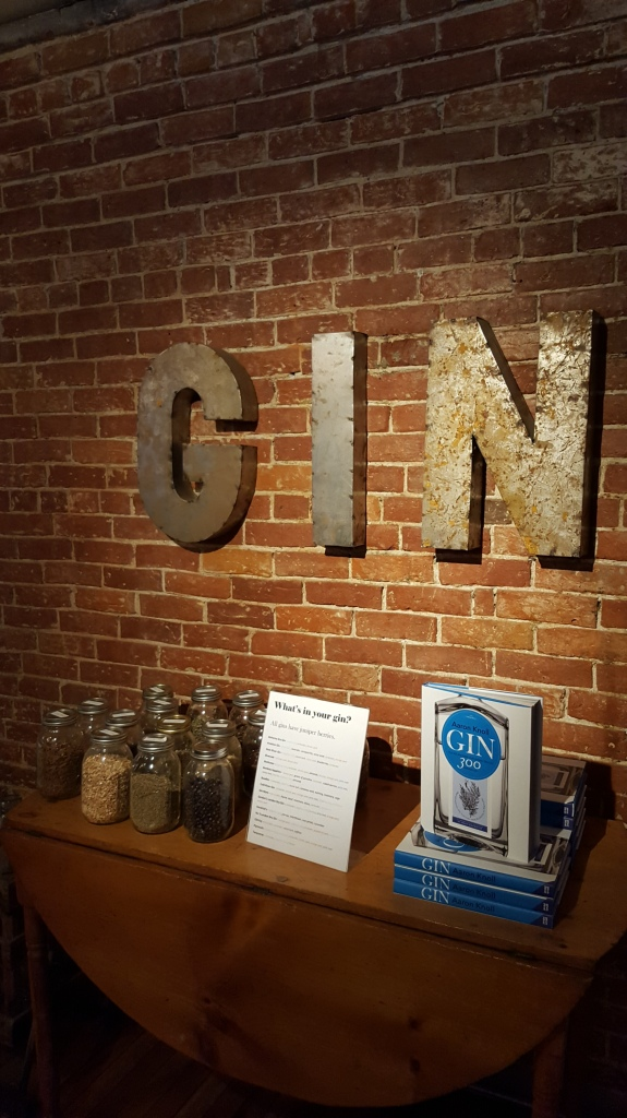 Learning about the ingredients in Gin... Sweetwater, Portland, ME