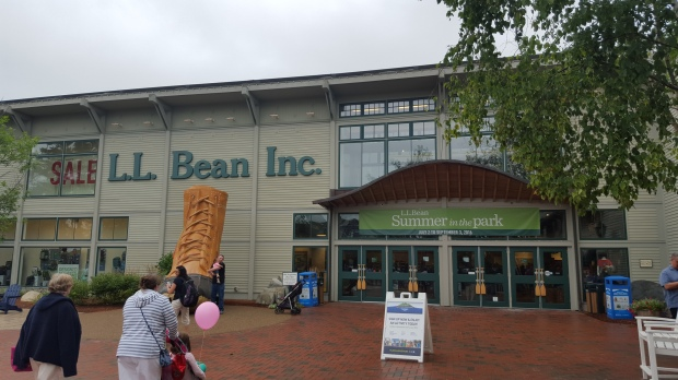 The hometown of LL Bean Inc., Freeport, ME