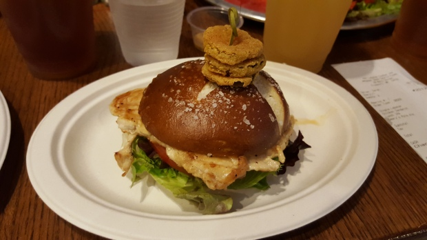 My grilled chicken sandwich...yeah I know - you want to see the lobster! Take a look at the first photo in this post!