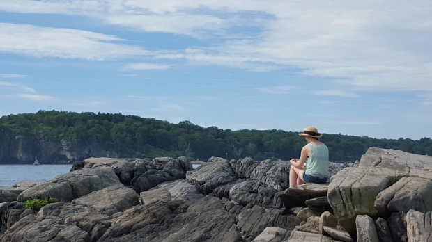 Sketching the lands... Peaks Island, ME