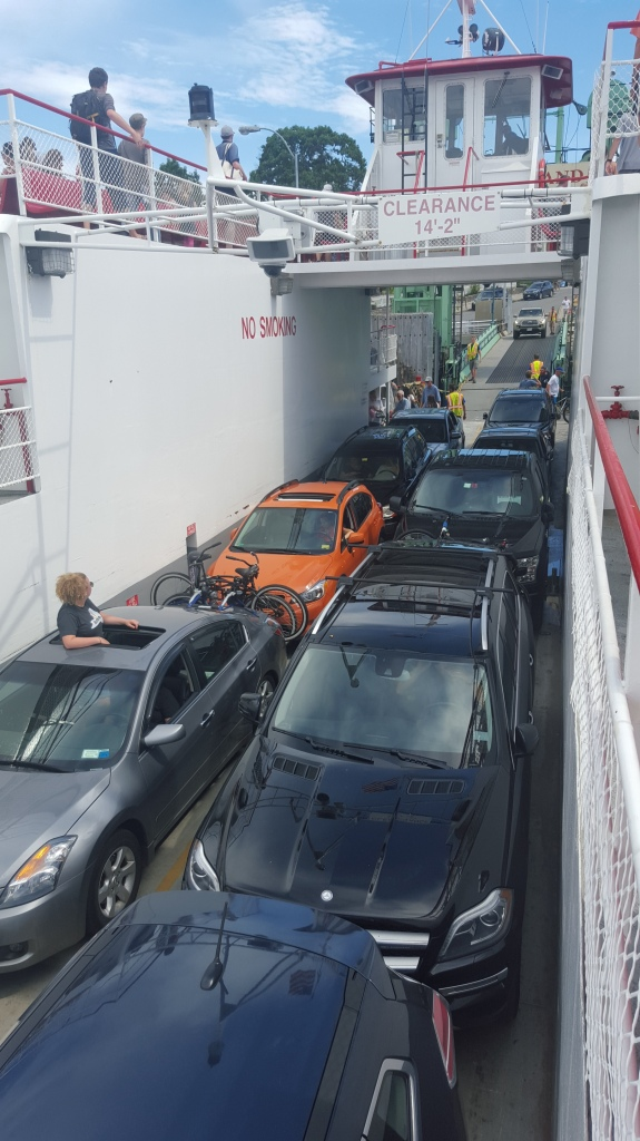 Cars loading into the ferry at Peaks Island Terminal
