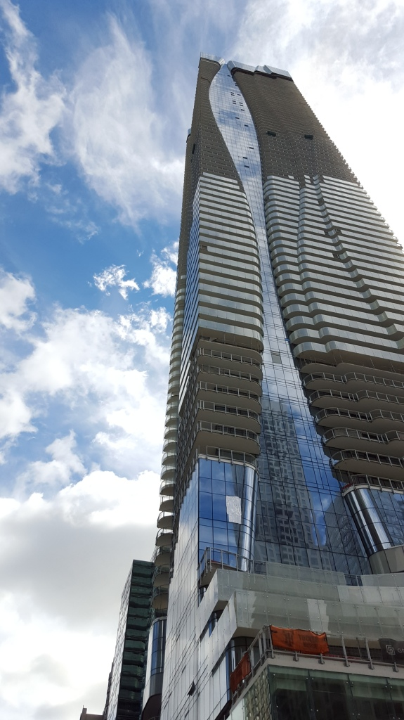 One Bloor. When completed, this will be Canada's second tallest residential condo tower (at 76 storeys, vs. Aura at Yonge and Gerrard which is 78 storeys.)
