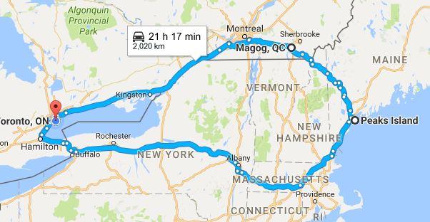 The entire trip...