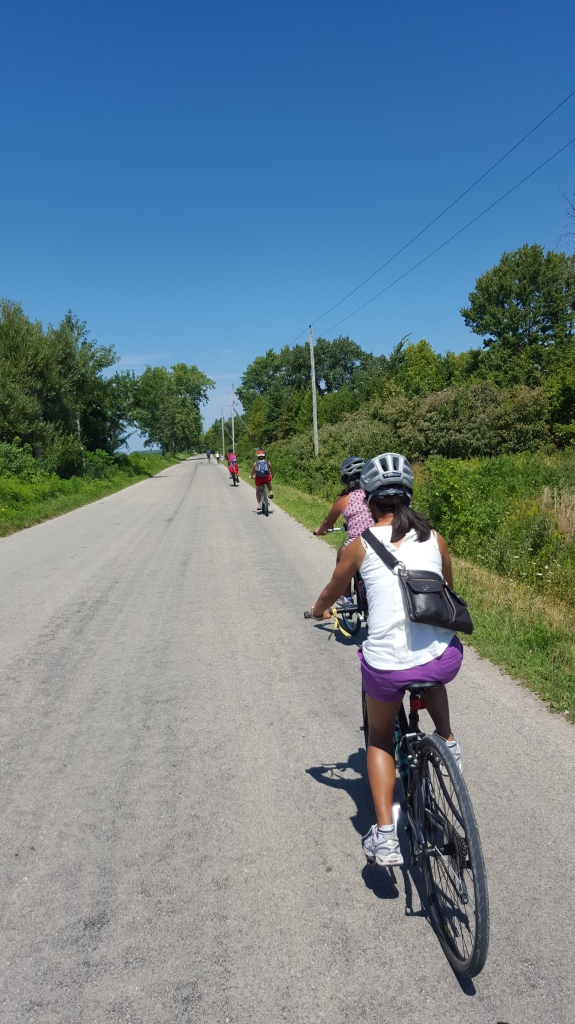 Taking a bicycle tour of Pelee Island
