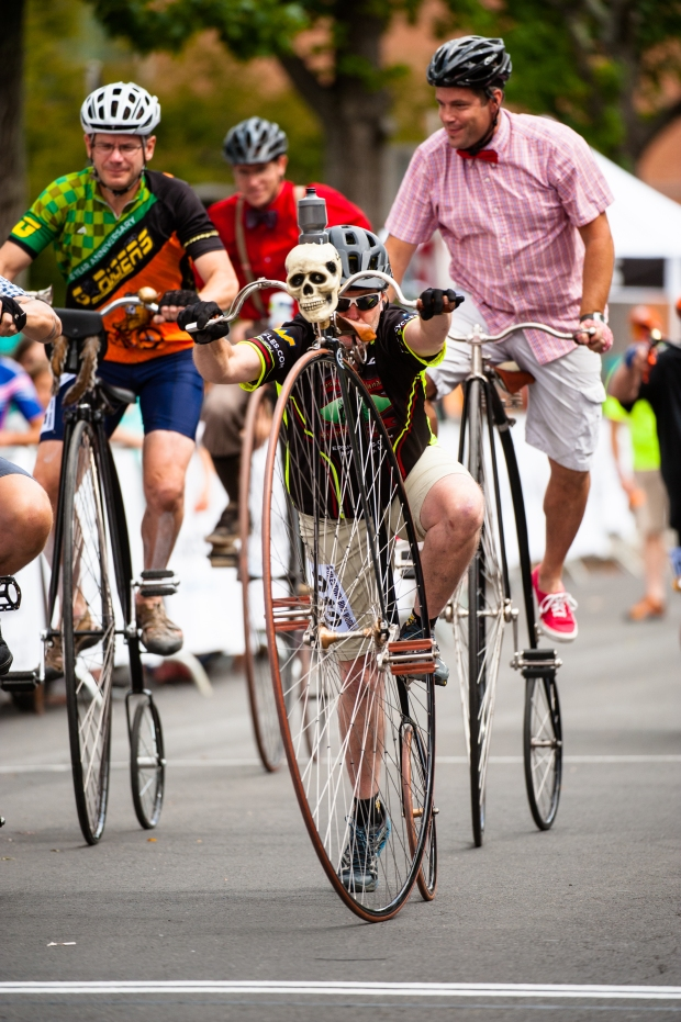 """A skull...is this a dangerous ride?"" 2016 Thompson Bucks County Classic, Doylestown, PA"