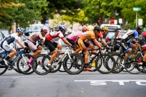 Men's Amateur Racers speeding through the streets of Doylestown