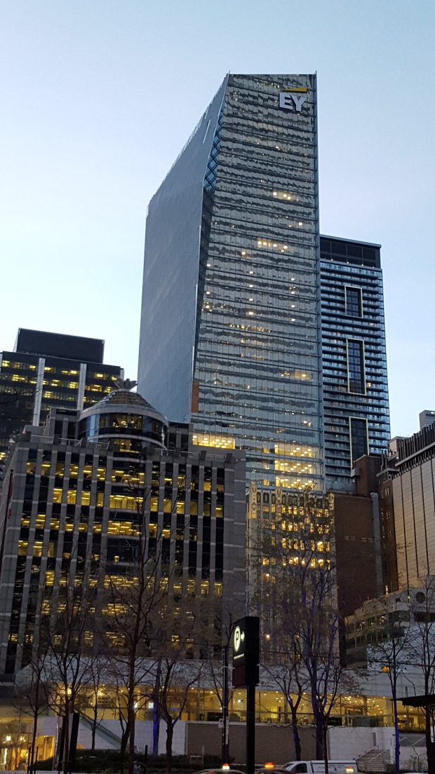 The new Ernst and Young Building, as seen from the TD Centre grounds.